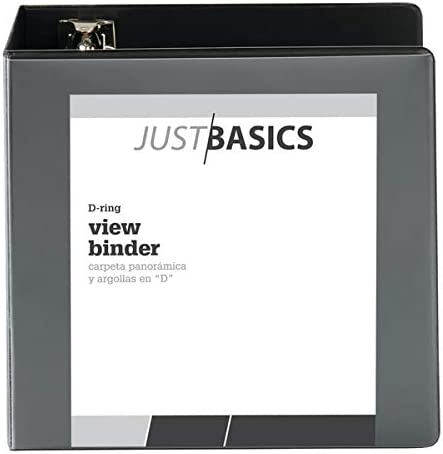 1 Rings 38/% Recycled White Basic Just Basics D-Ring View Binder