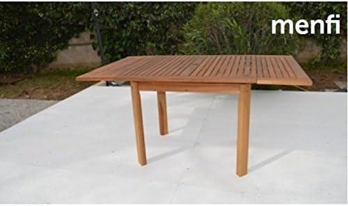 Tavoli Estensibili Da Esterno.Tavolo Da Giardino Estensibile 90x90 90x150 Cm In Acacia H 74 Cm