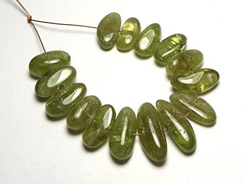 15 pcs GREEN TITANITE (SPHENE) 12-18mm Nugget Beads NATURAL RARE Brazil ()