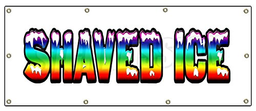 "36""x96"" SHAVED ICE BANNER SIGN hawaiian cart stand signs sno snow cone"