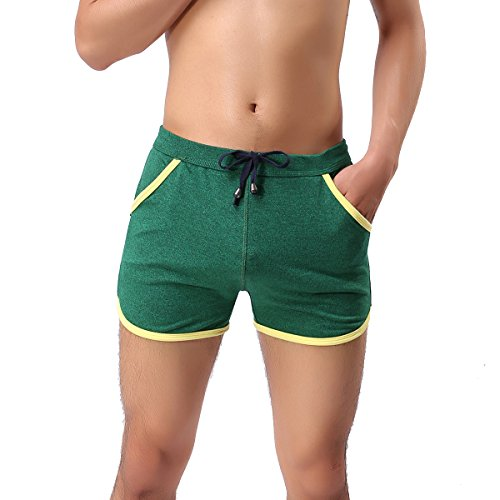 Barsty Men's Low Rise Sports Soft Running Training Short Pants XL - Rise Low Shorts Running