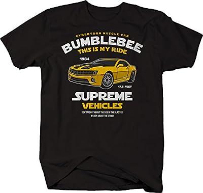 M22 Bumblebee Chevy Camaro Transformer Cybertorn Muscle Car Tshirt