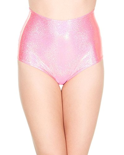 iHeartRaves Shell High Waisted Booty Shorts (Medium/Large, Baby (Sea Creature Halloween Costume Ideas)
