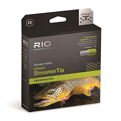 RIO Products Fly Line Intouch Streamertip 10' INT. Wf8F/I, Gray-Yellow-Pale-Green