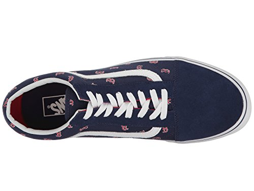 boston Multicolore Rouge Sox Homme Vans bleu navy Basses Sneakers red Marine qw7t0