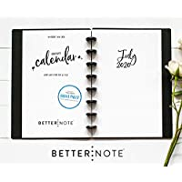 "BetterNote July 2020 - June 2021 Academic Monthly Calendar for Disc-Bound Planners, Fits 8-Disc Levenger Circa Junior, Arc, Half Letter Size 5.5""x8.5"" Whimsy (Notebook not included)"