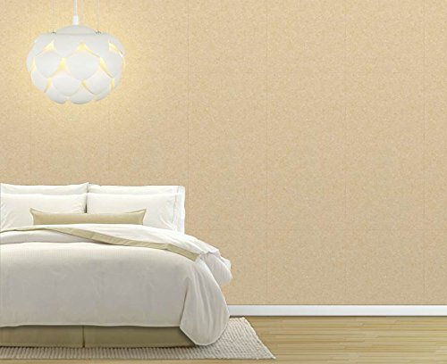 Large Wall Mural Solid Wheat Color Pattern Vinyl Wallpaper Removable Decorating