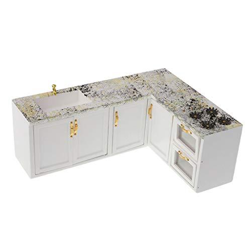 - NATFUR 1:12 Scale Dollhouse Kitchen Accessories Furniture Cooking Bench Cupboard
