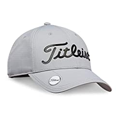 Classic Titleist design with a conveniently placed ball marker on the visor.       Features:                Magnet system inside the bill         Built-in UV protection         Standard curve         Velcro closure         Finished wit...