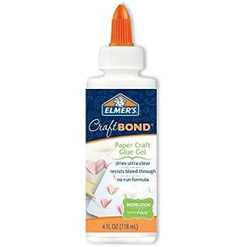 Elmer's Craft Bond Paper Craft Glue Gel, 4-Ounce, Clear