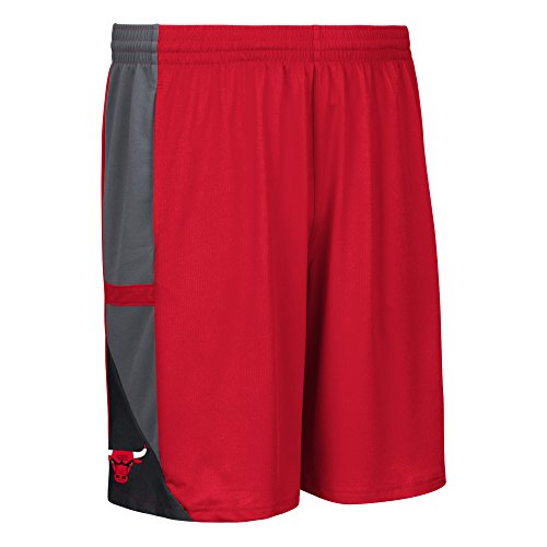 NBA Chicago Bulls Men's Tip-Off Mesh Shorts, Large, Red