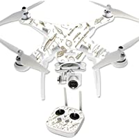 Skin For DJI Phantom 3 Professional – Retro Lures | MightySkins Protective, Durable, and Unique Vinyl Decal wrap cover | Easy To Apply, Remove, and Change Styles | Made in the USA