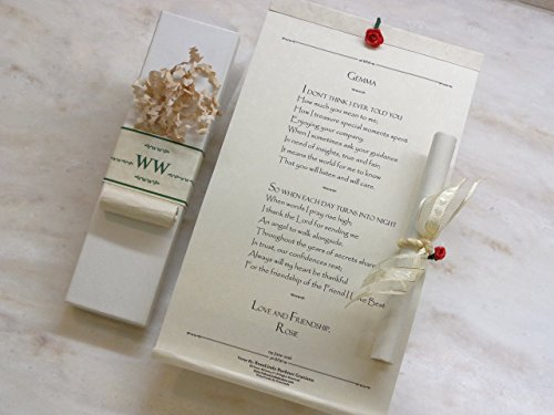*Friend I Love Best* All Occasion Personalized Scroll Card Greeting Keepsake Gift for BFF