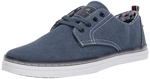 Ben Sherman Men's Bulldog Derby Sneaker Navy Canvas 9.5 M -