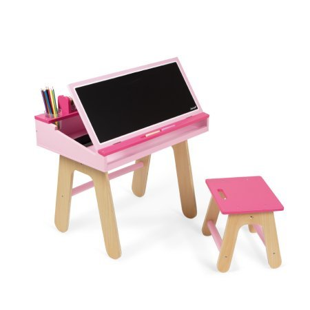 Janod Desk and Chair - Pink by Janod