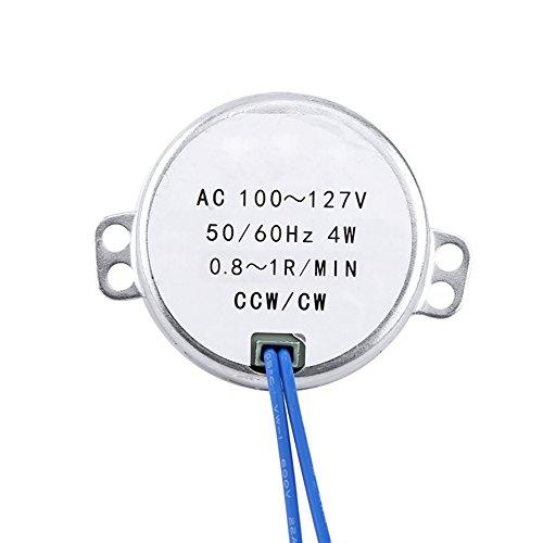 Turntable Synchronous Synchron Motor 50/60Hz AC 100~127V CCW/CW 4W (0.8-1RPM)