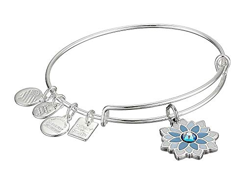 Alex and Ani Women's Charity by Design, Water Lily Bangle Shiny Silver One Size