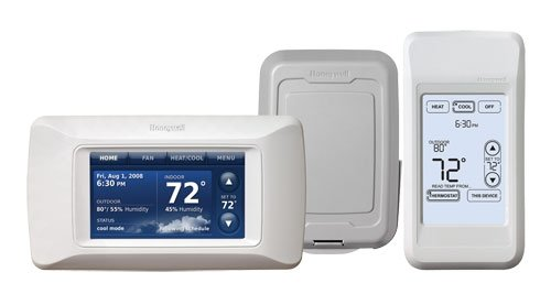 YTHX9321R5003 HONEYWELL HD COLOR SYSTEM KIT PRESTIGE HD SYSTEM REDLINK ENABLED INCLUDES THE PORTABLE COMFORT CONTROL (REMOTE) + WIRELESS OUTDOOR TEMPERATURE SENSOR AND HIGH DEFINITION COLOR - Thermostat Remote Control Kit