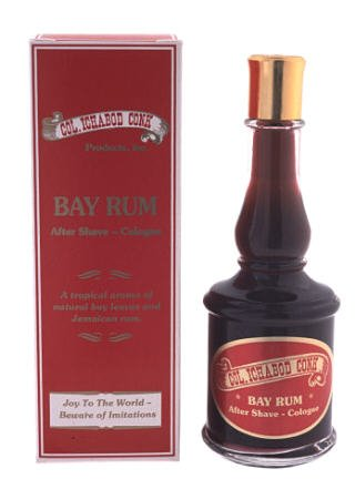 Colonel Ichabod Conk Bay Rum After Shave Cologne 4 Fl. Oz. Glass Bottle