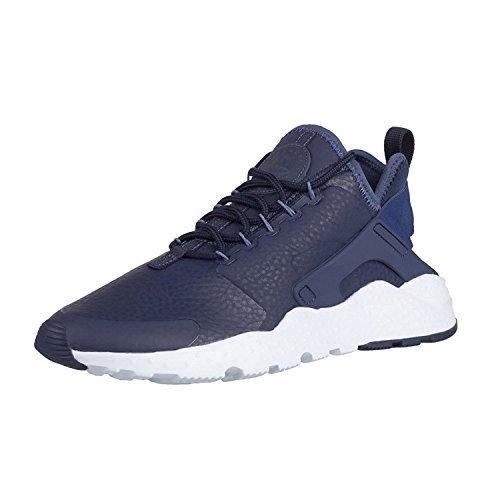 super popular d7045 bc81f Galleon - NIKE Womens Huarache Run Ultra PRM Running Shoes, Midnight Navy Ocean  Fog-Blue Tint, 10 D(M) US