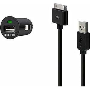 Belkin Micro Auto cargador 121,92 cm Cable de sincronización para iPhone 4 4S y iPod