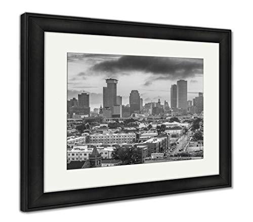 - Ashley Framed Prints New Orleans, Louisiana, USA Downtown Skyline at Dusk, Wall Art Home Decoration, Black/White, 34x40 (Frame Size), Black Frame, AG32473919