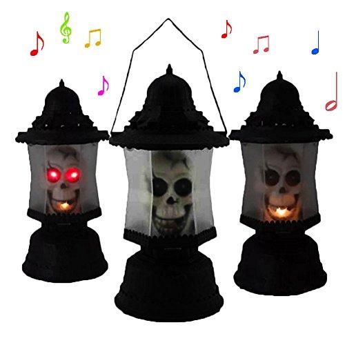 Gouptec 2016 Halloween Props Horror Screams music Ghost Light Bar Iamp Skull Hand lights Sounds Light Scary (Ghost Light Strand)
