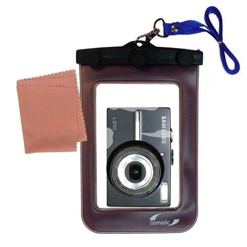 Gomadic防水カメラ保護バッグSuitable for the Samsung l210 – UniqueフローティングデザインKeepsカメラClean and Dry   B007FDLUMW
