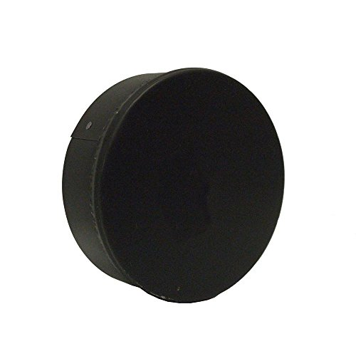 Master Flow 6 in. x 6 in. Black Stove Pipe Duct Cap