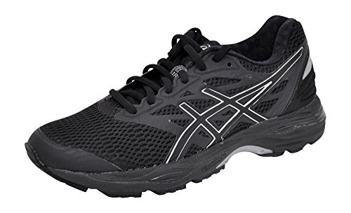 ASICS Women's Gel-Cumulus 18 Running Shoe (9.5 B(M) US, Black/Silver/Black) by ASICS