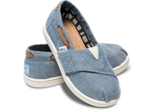 Chambray Tiny TOMS Classics 013131D13 - 4 M US Toddler Color: (Toms For Toddlers On Sale)