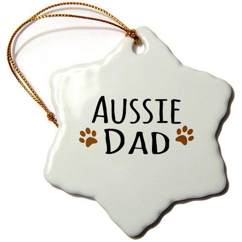 3dRose orn 153851 1 Australian Snowflake Porcelain