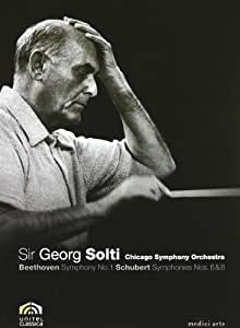 Sir George Solti/Chicago Symphony Orcestra: Beethoven Symphony No. 1/Schubert Symphonies Nos. 6 & 8 (Bilingual) [Import]