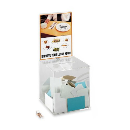 Safco Products 4234CL Large Acrylic Collection Boxes, Clear ()