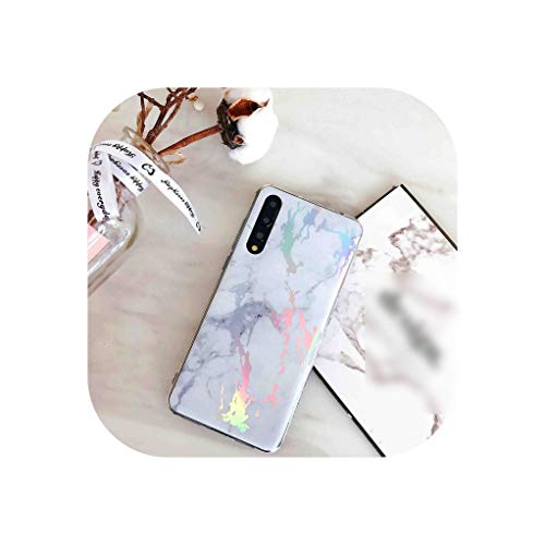 Rainbow Holographic Iridescent Marble Phone Case for Huawei P20 Plus Pro Lite NOVA 3E 2S Glossy Shell Cover,a,for Galaxy - Iridescent Petticoat
