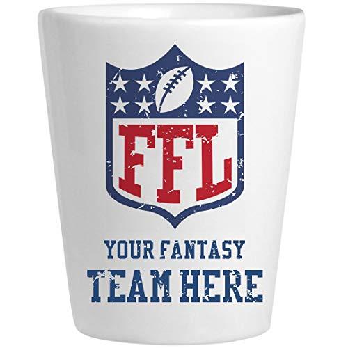Custom Fantasy Football Team Name Shotglass: Ceramic Shot