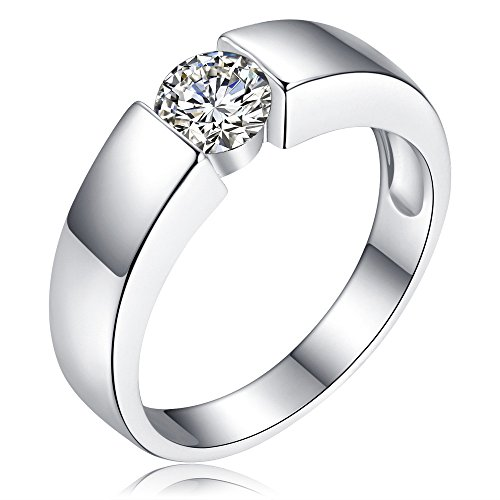Londony ♪❤ Clearance Sales, Diamond Rings for Women Silver Round Cut Wedding Engagement Ring Bijoux Jewelry Gift (Coin Buckle Cut Belt)
