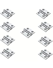 GeZu-Impex ® 10x Mini Scharnieren, Vouwbare Butt Scharnieren, Scharnier voor kleine kasten, 25 x 25 mm, Electrolytisch verzinkt staal