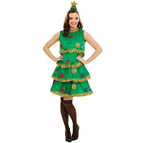 fun shack Womens Christmas Tree Costume Adults Festive Party Dress Outfit - Large - http://coolthings.us