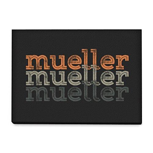Idakoos - Mueller repeat retro - Last Names - Canvas Wall