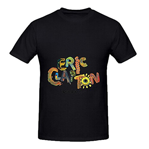 Eric Clapton Behind The Sun Tracks Men Round Neck Diy Shirts Black