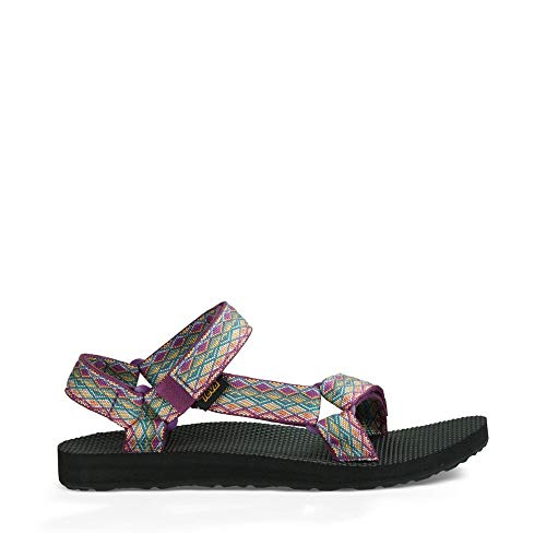 Teva Women's W Original Universal Sandal, Miramar Fade Dark Purple/Multi, 6 M US