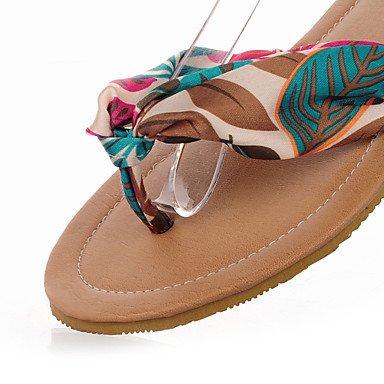 BeMIX seda de las mujeres talón plano comodidad sandalias zapatos (más colores), amarillo, US5 / EU35 / UK3 / CN34 amarillo