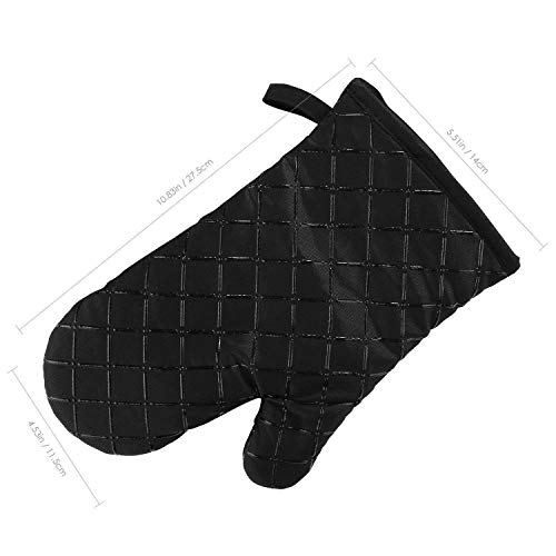 AICOK Oven Mitts, Heat Resistant Oven Gloves, Non-Slip Cooking Gloves, for BBQ, Baking, Barbecue Potholder, Black by AICOK (Image #6)