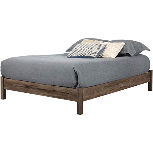 South Shore 11926 Fynn Platform Bed, Full, Fall Oak