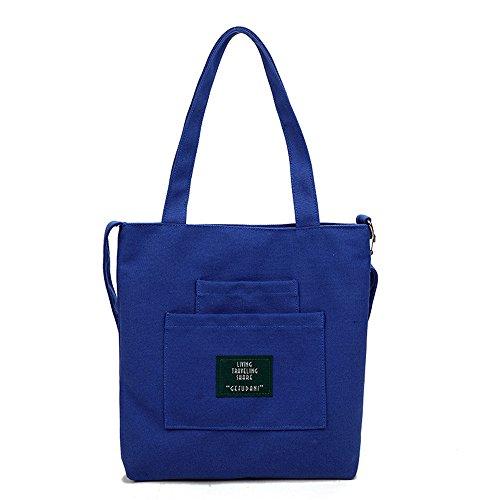 Meaeo Bolso De Lona Bolso Diagonal Bolso De Hombro Bolso Bolso De Compras Azul Blue