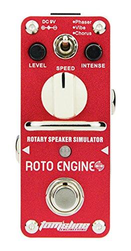 Tomsline ARE3 Roto Engine, Mini-Pedal, Rotary Speaker Simulator, 3 Mode (Phaser, Vibe, Chorus)