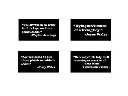 Amazon.com : Mini Stickers - Josey Wales, Lone Watie, Waylon ...