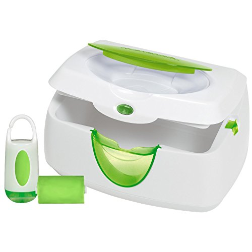 Munchkin Warm Glow Wipe Warmer and Diaper Bag Dispenser Set (Green)
