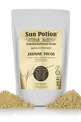 Jasmine TOCOS Powder 400g by Sun Potion - Organic Rice Bran Solubles - Tocotrienols Ultimate Superfood High in Vitamin E Promotes Healthy Skin Care Connective Tissue and Muscle - Raw, Pure, Non-GMO